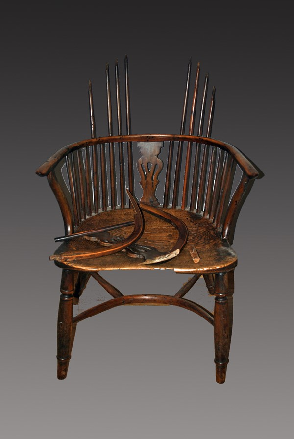 18th Centuary Windsor Chair Before Restoration