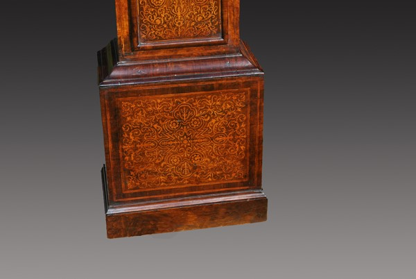 Early 18th Century Inlaid Longcase Clock After Restoration