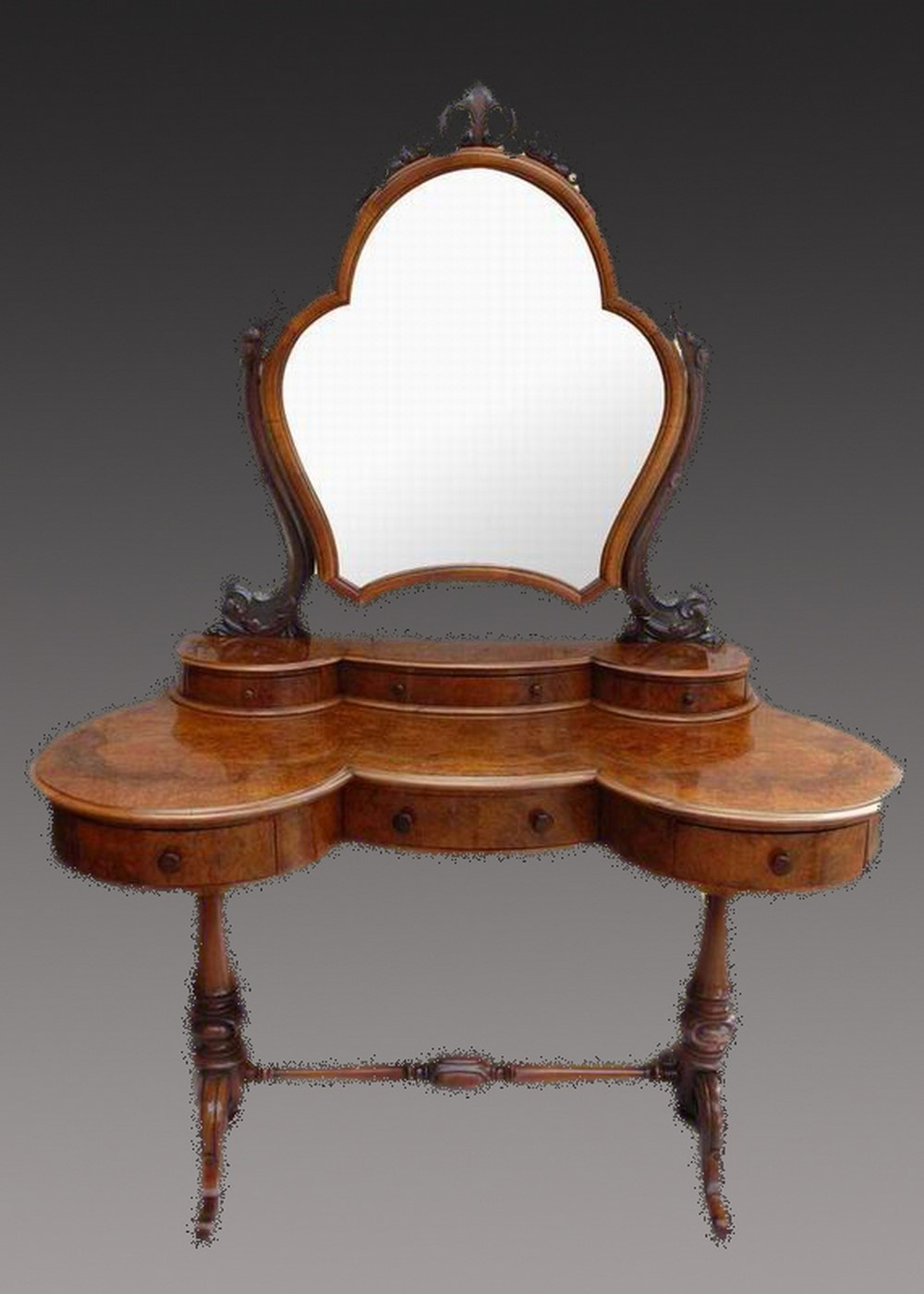 Victorian dressing table - Victorian Walnut Dressing Table